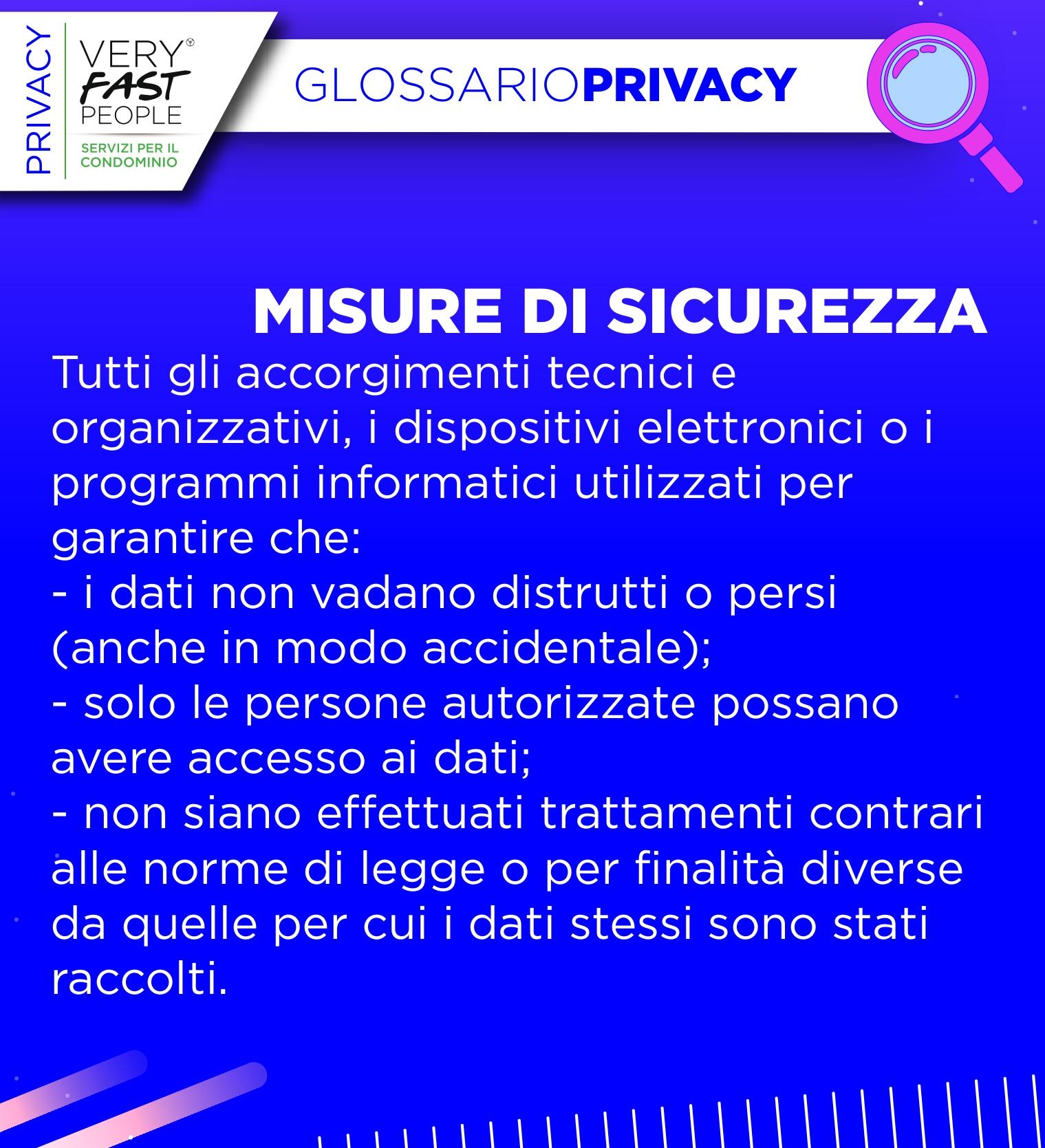 misure di sicurezza privacy
